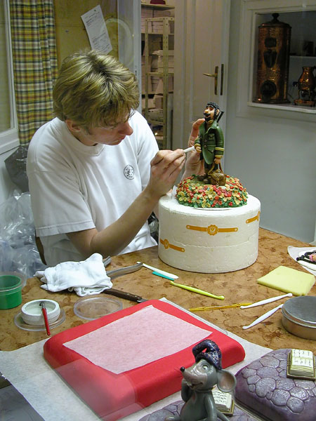 A Marzipan confectionery artist at work - Szentendre