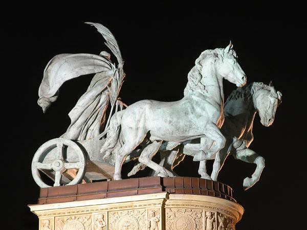 Hösök Tér (Heroes Square) - Monument (detail)