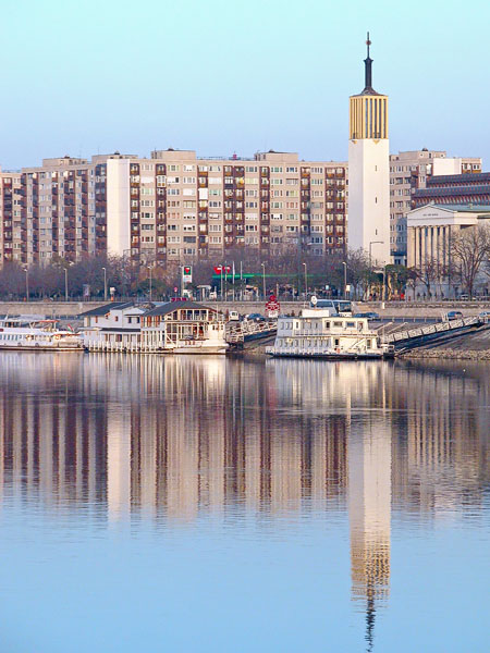 Danube east bank (view from Margit Island)