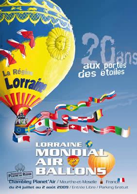 Affiche du Lorraine Mondial Air Ballons 2009
