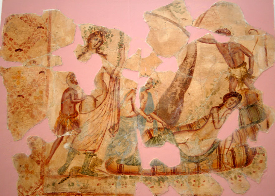 Fragments of Roman painting