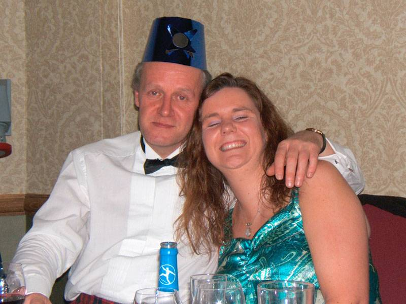 Tommy Cooper and Fiona