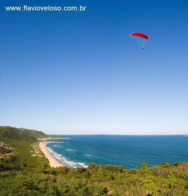 Parapente na Praia da Mole, Florianopolis, Santa Catarina