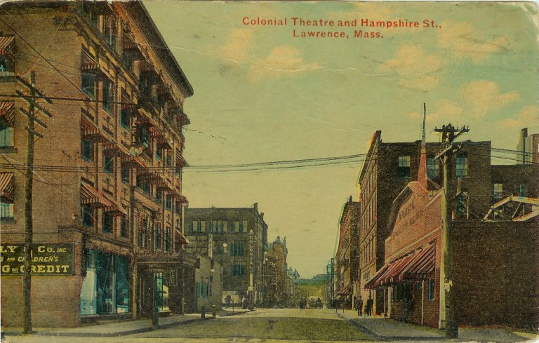 View of the Colonial and Hampshire St. from Methuen St.
