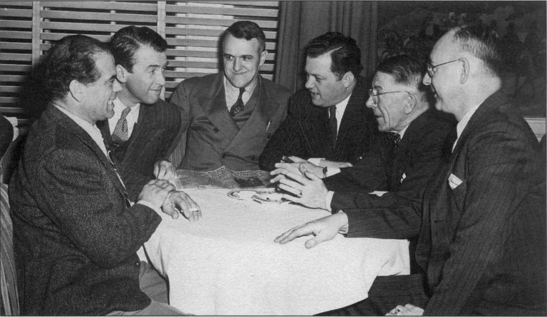 Frank Capra and Jimmy Stewart in Lawrence