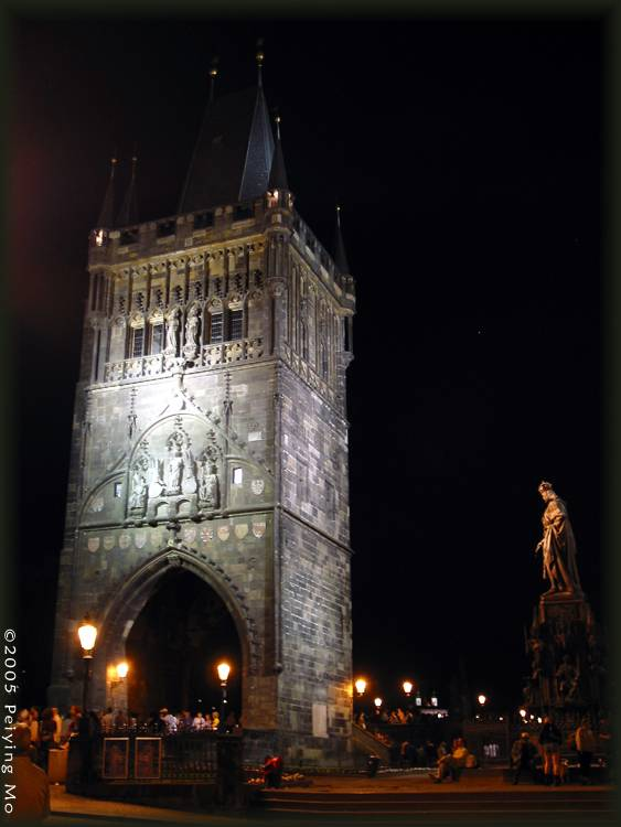 A tower at the Charles Bridge