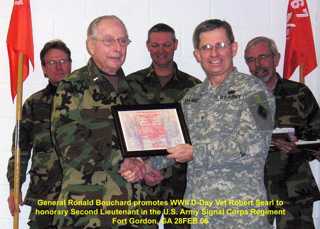 Bob Searl, Sr  & General Bouchard