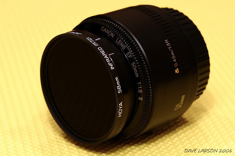 50mm f1.8 Lens & Hoya R72 IR Filter