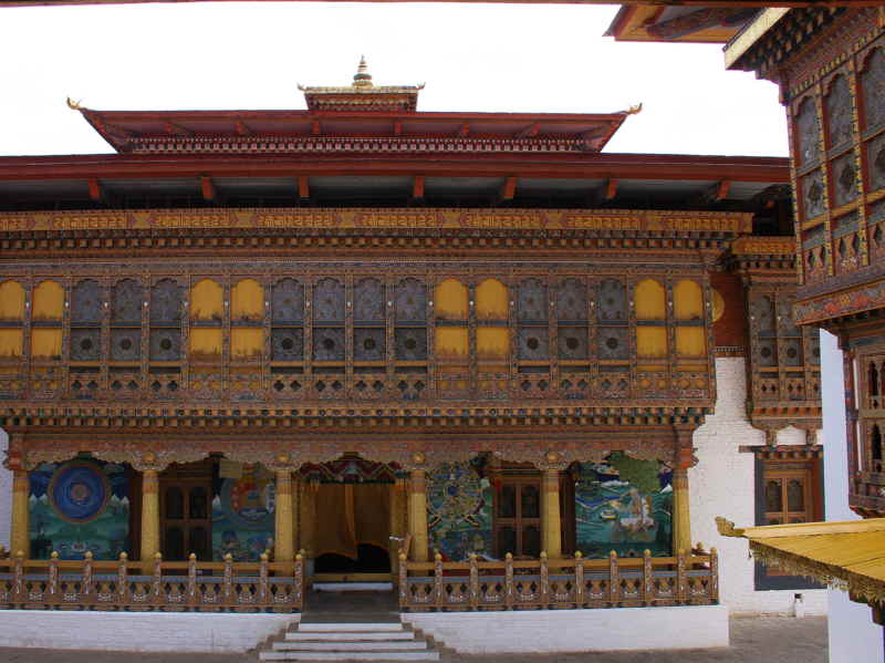 The religious courtyard area, Punakha Dzong