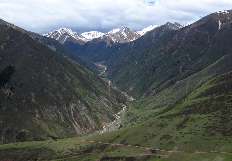Steep valley