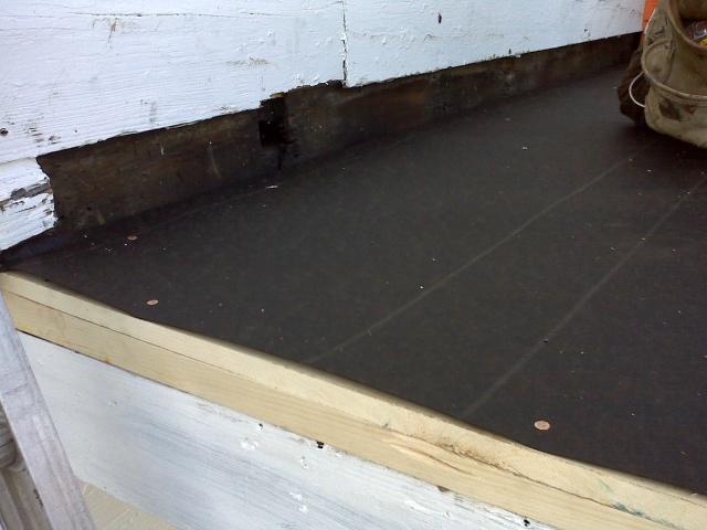 copper nails to tack down tarpaper
