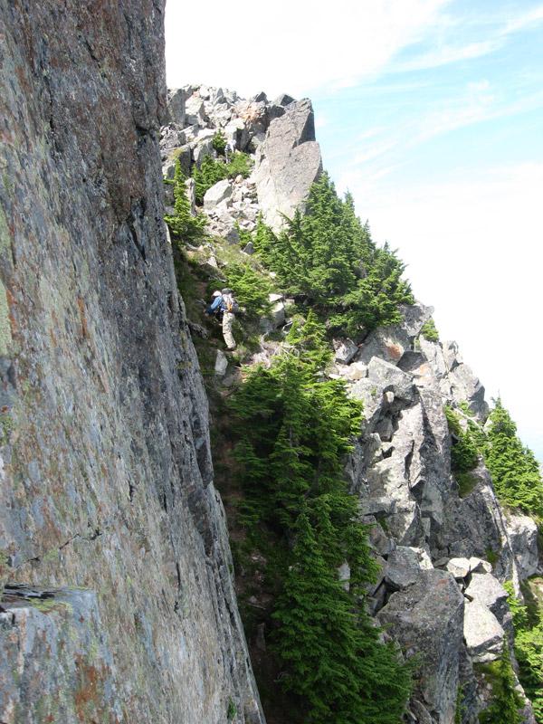 Hiker on Ledge
