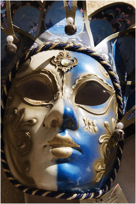 Blue Jester Mask