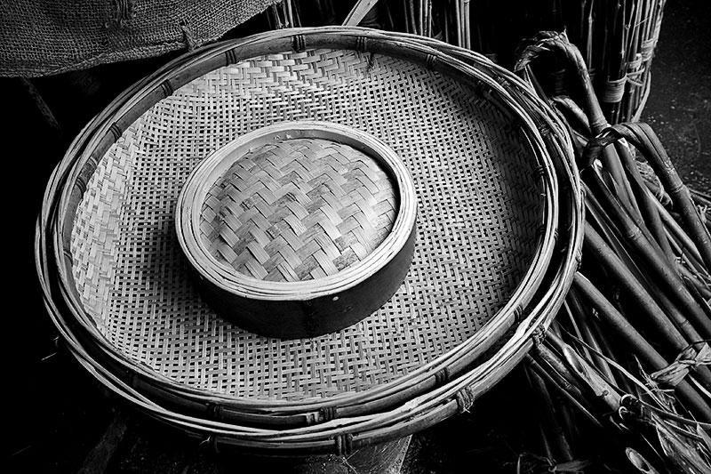 winnowing basket and steamer, Jishou City, Hunan Province, China