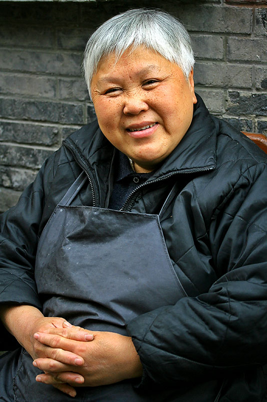 A lovely person to meet. Hongkou District, Huoshan neighborhood.