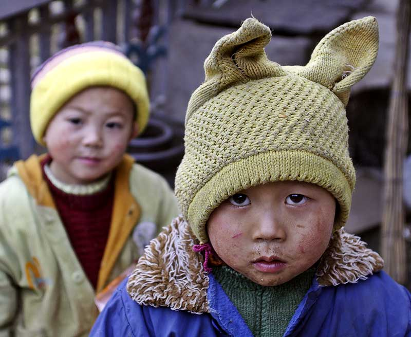Rabbit ears. Panzhai, Guizhou Province, China