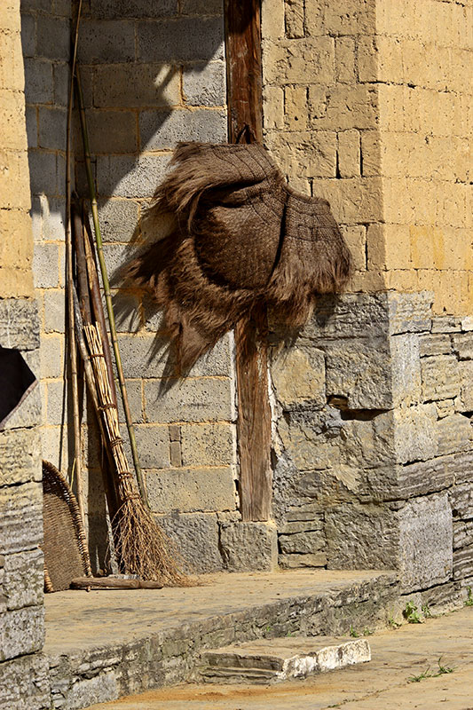 Palm fiber rain cape commonly used in many parts of southern China.