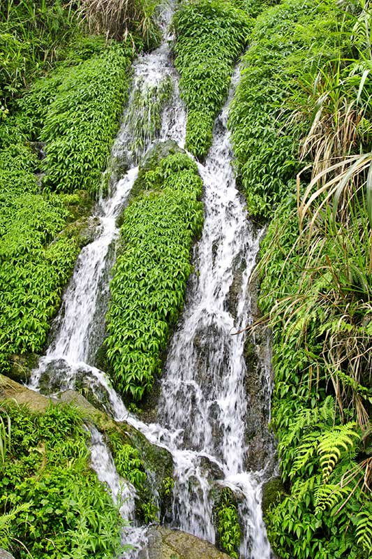 Cascading water. The roar of small tributaries is enjoyable and beautiful. After heavy rains the area is alive with water.