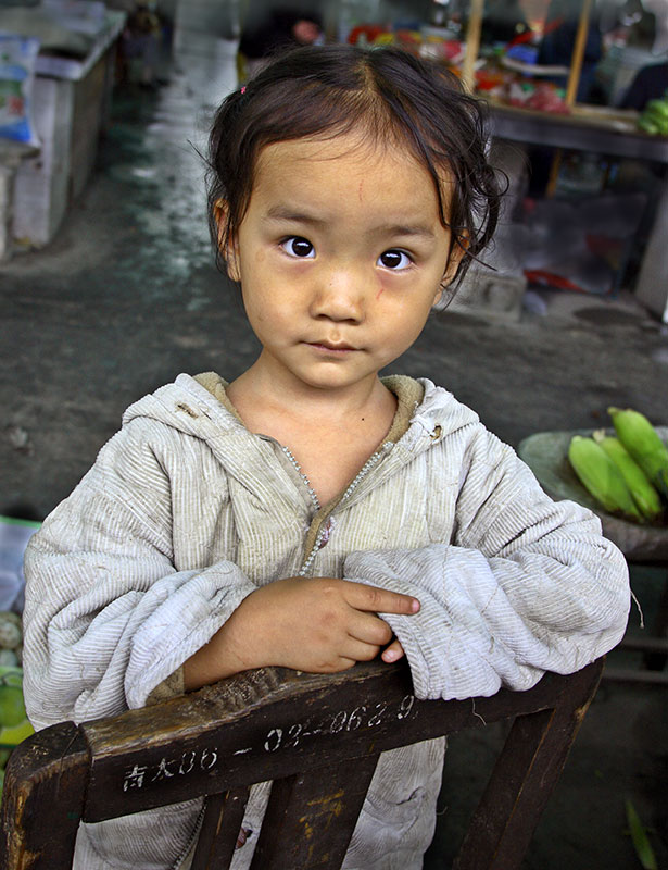 Young girl in market. #2