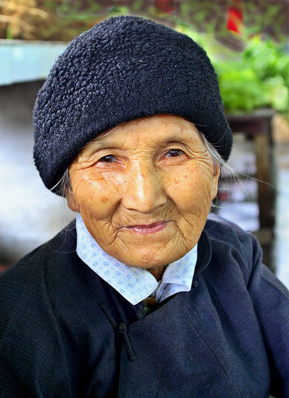 Selling the vegetables she grows. 78 years old. #2