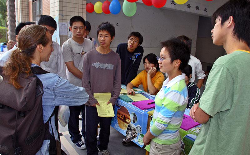 Jishou University, June 4th, educating students on environmental impacts.
