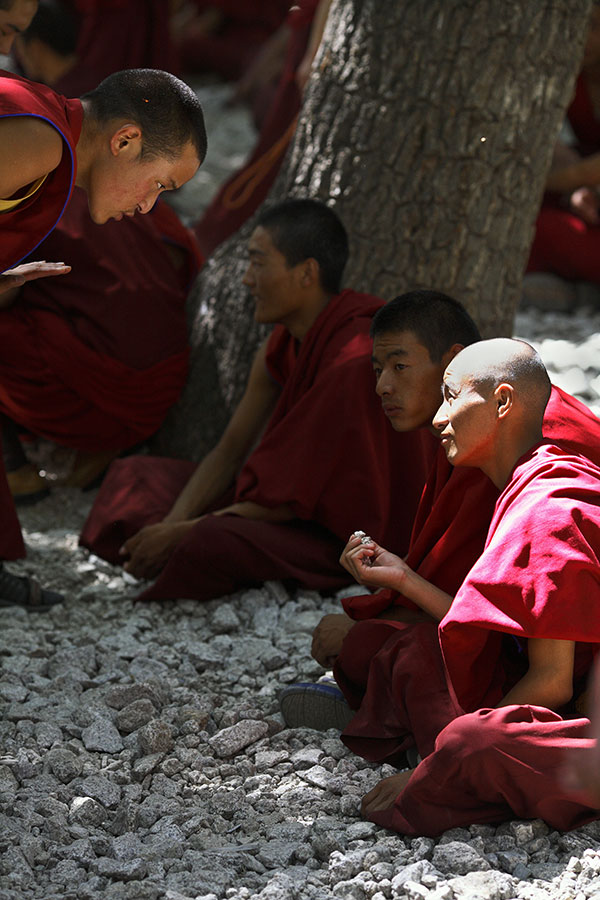 Part of the daily debates at Sera monastary, Lhasa.