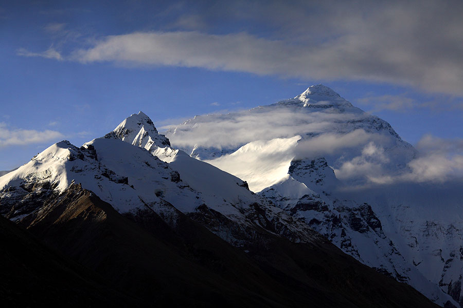 Early morning view of Chomolungma (Mt. Everest).