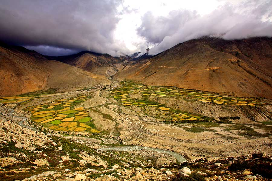 Very near the Nepal border.