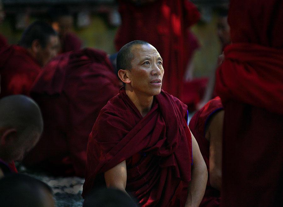 Debating monks, Sera Monastary, Lhasa, Tibet
