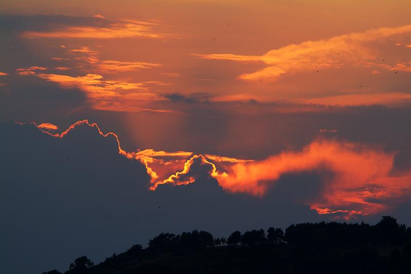 Stormy sunset over Cefnpennar