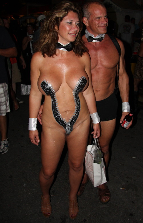 Fantasy fest nude body painting
