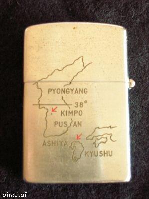 Back side of Gypsy Zippo lighter....