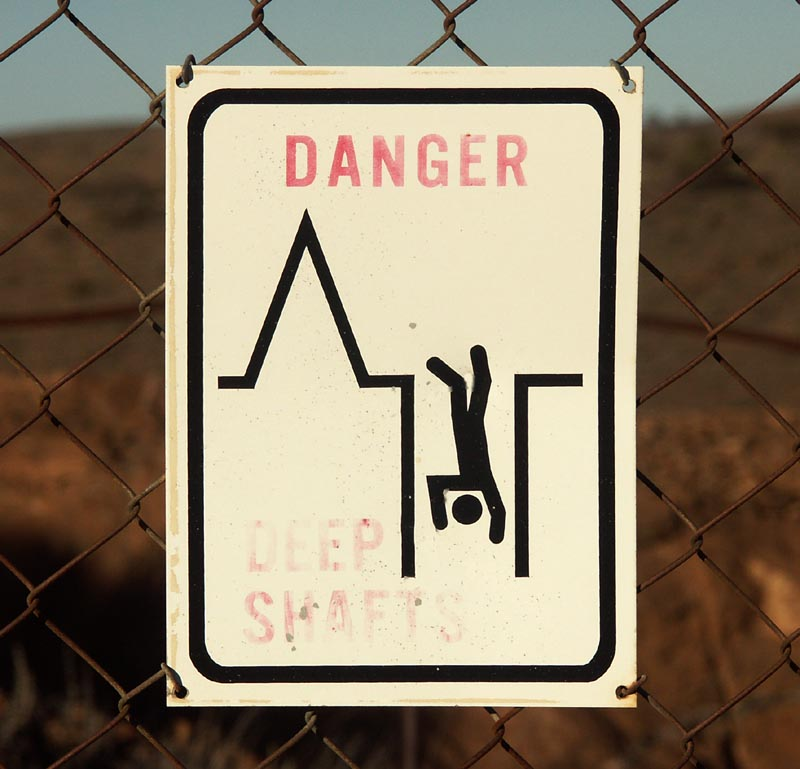Faded Danger Sign