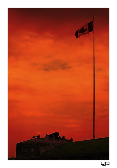 Canadian Flag over Bloody Sky