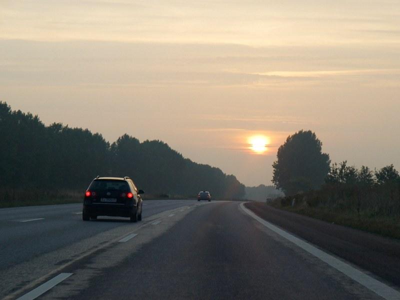 2010-09-11 Highway in evening sun