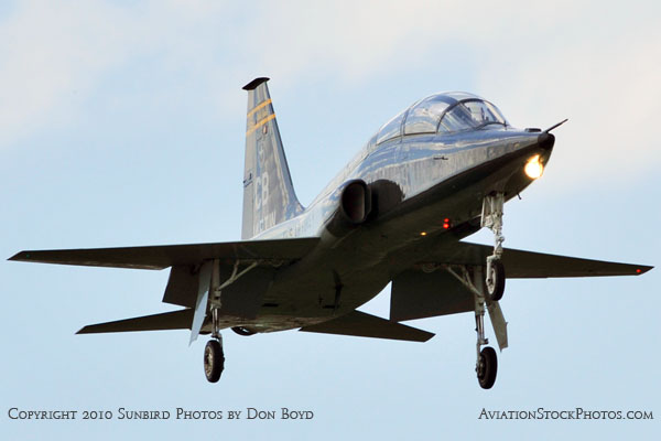 USAF T-38 Talon final approach to OPF military aviation stock photo #6407