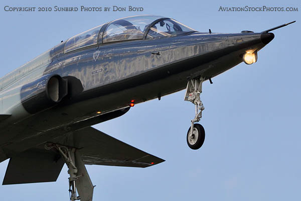 USAF T-38 Talon final approach to OPF military aviation stock photo #6409