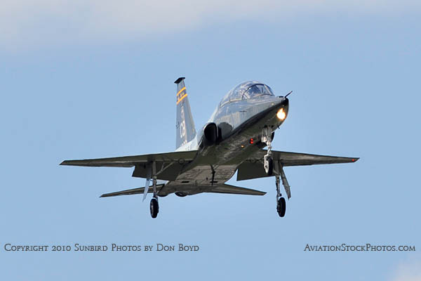 USAF T-38 Talon final approach to OPF military aviation stock photo #6413
