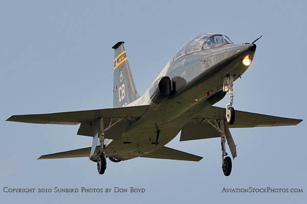 USAF T-38 Talon final approach to OPF military aviation stock photo #6414