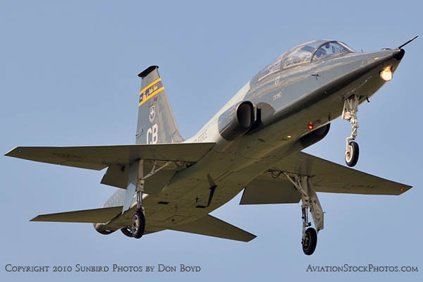 USAF T-38 Talon final approach to OPF military aviation stock photo #6415