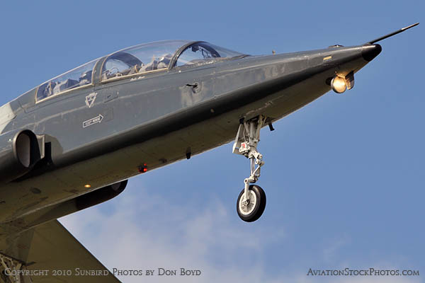 USAF T-38 Talon final approach to OPF military aviation stock photo #6416