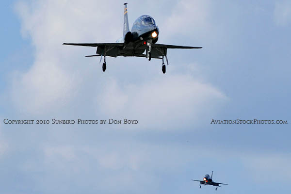 USAF T-38 Talon final approach to OPF military aviation stock photo #6418