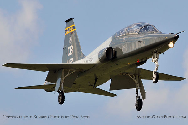 USAF T-38 Talon final approach to OPF military aviation stock photo #6420