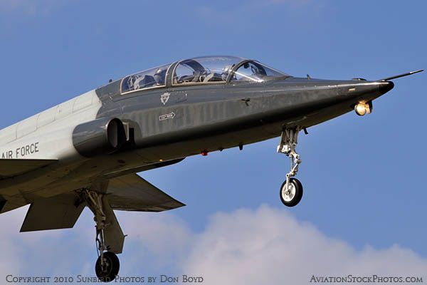 USAF T-38 Talon final approach to OPF military aviation stock photo #6421