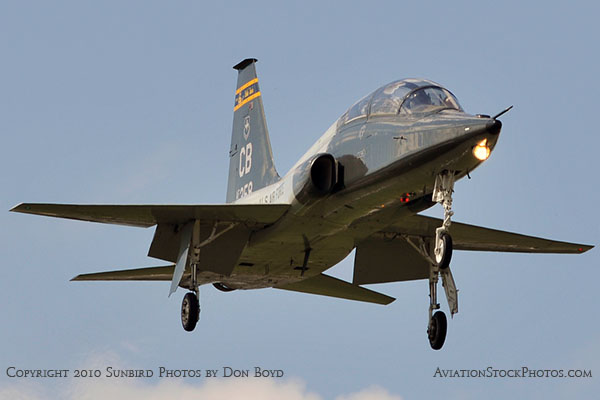 USAF T-38 Talon final approach to OPF military aviation stock photo #6425