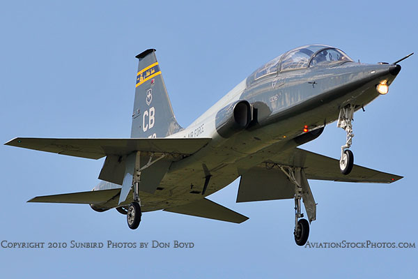 USAF T-38 Talon final approach to OPF military aviation stock photo #6426