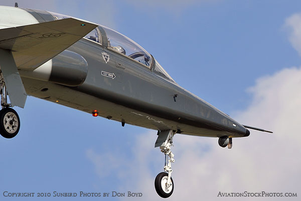 USAF T-38 Talon final approach to OPF military aviation stock photo #6428