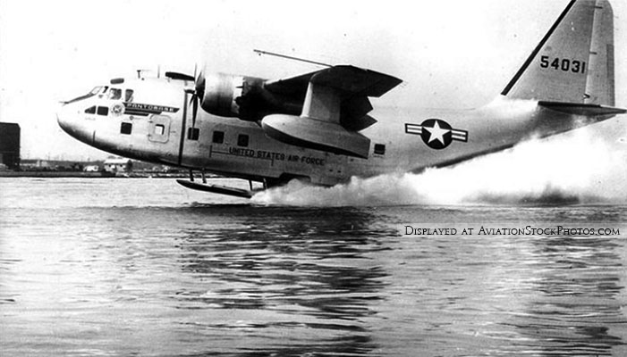 USAF Stroukoff Aircraft Corporation YC-134A (AF# 55-4031) with Pantobase system for amphibious operations