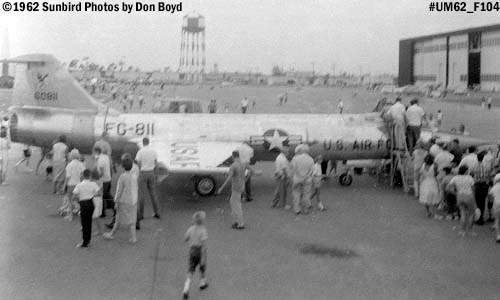 USAF F-104 Starfighter AF60-811 at the Homestead AFB Open House in 1962 photo #UM62_02