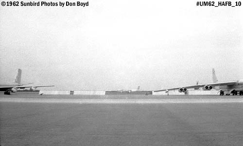 USAF KC-135 on the left, B-52 landing and B-52 on the right at the Homestead AFB Open House in 1962 photo #UM62_10